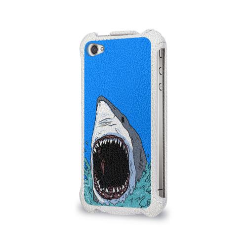Чехол для Apple iPhone 4/4S flip  Фото 03, shark