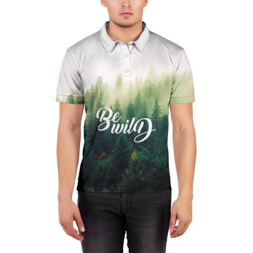 Мужская рубашка поло 3D  Фото 03, Be wild