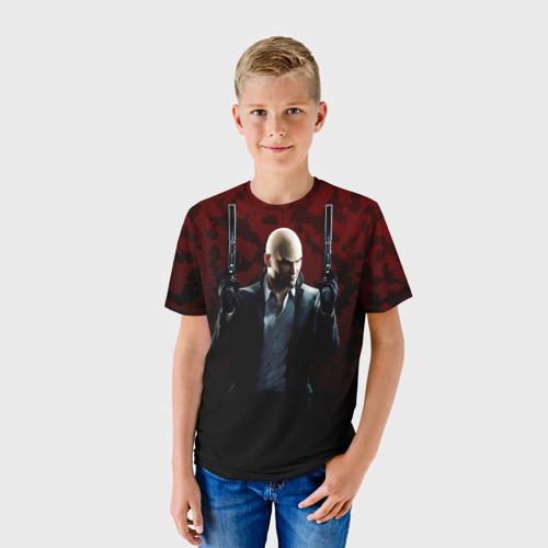 Детская футболка 3D  Фото 01, Hitman
