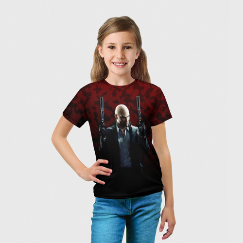 Детская футболка 3D  Фото 03, Hitman