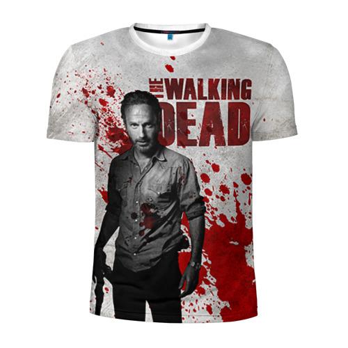 Мужская футболка 3D спортивная Walking Dead