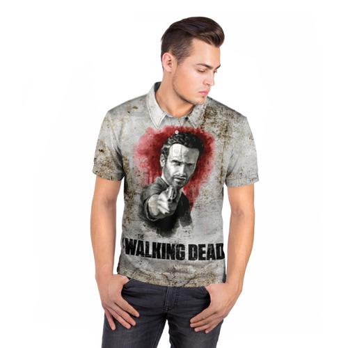Мужская рубашка поло 3D  Фото 05, Walking Dead