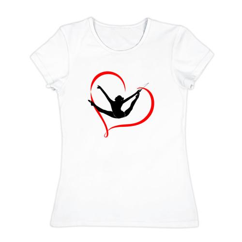 Женская футболка хлопок  Фото 01, Гимнастка с лентой