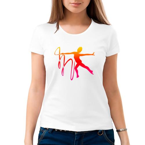 Женская футболка хлопок  Фото 03, Гимнастка с лентой 2