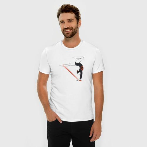 Мужская футболка премиум  Фото 03, Гимнастка со скакалкой