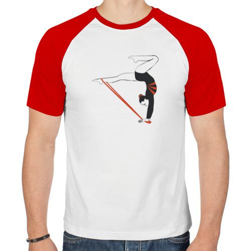 Мужская футболка реглан  Фото 01, Гимнастка со скакалкой