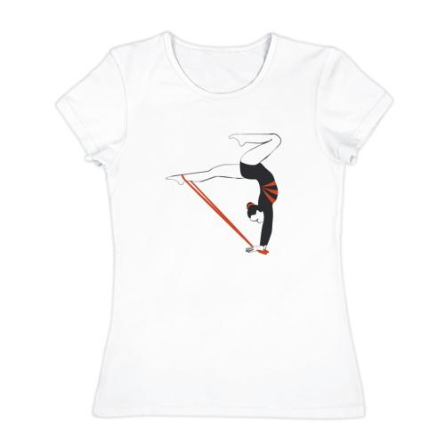 Женская футболка хлопок  Фото 01, Гимнастка со скакалкой
