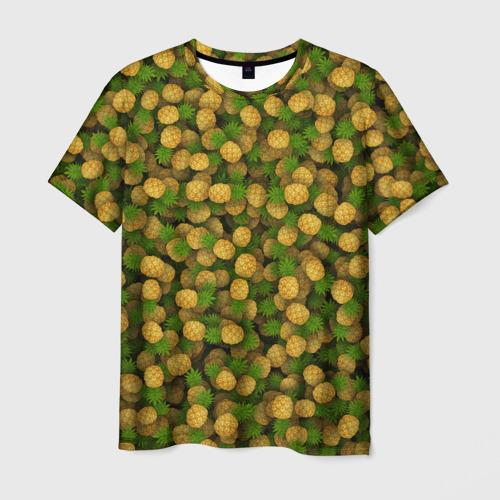 Мужская футболка 3D  Фото 03, Ананасы