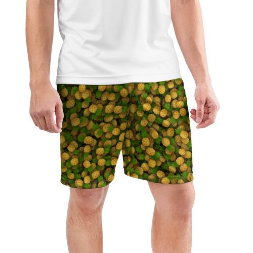 Мужские шорты 3D спортивные  Фото 03, Ананасы