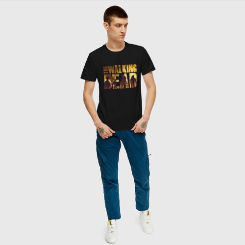 Мужская футболка хлопок Ходячие мертвецы Фото 01