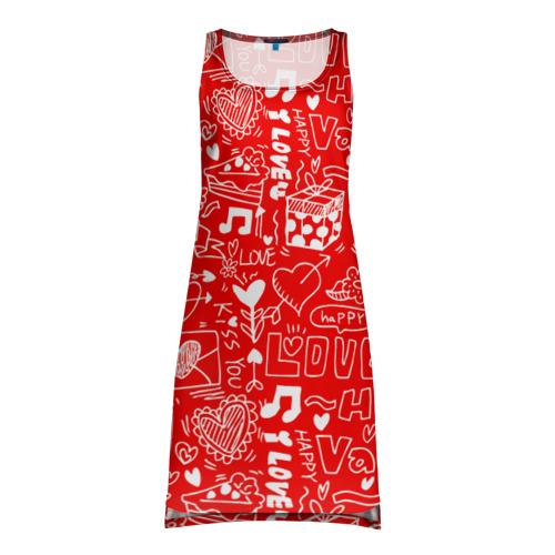 Платье-майка 3D  Фото 01, Будь моим Валентином!