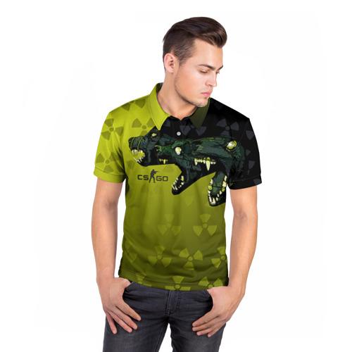 Мужская рубашка поло 3D  Фото 05, cs go Цербер