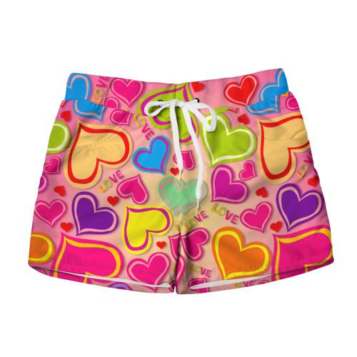 Женские шорты 3D Любовная фантазия