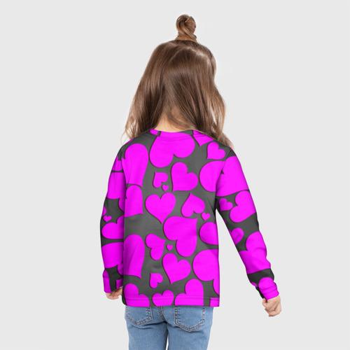 Детский лонгслив 3D Любовная история Фото 01