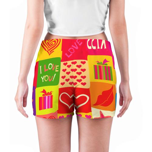 Женские шорты 3D  Фото 04, Праздник любви 2