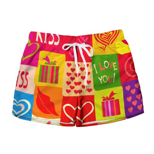 Женские шорты 3D  Фото 01, Праздник любви 2