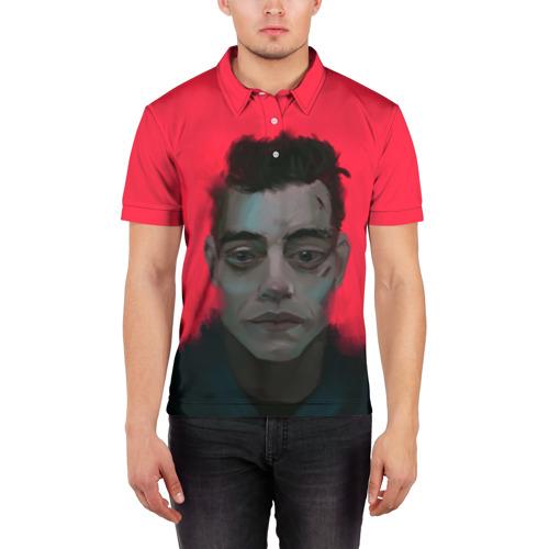 Мужская рубашка поло 3D  Фото 03, Mr Robot