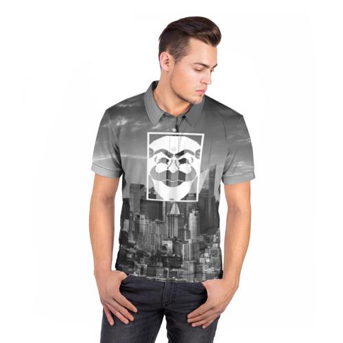 Мужская рубашка поло 3D  Фото 05, Fsociety