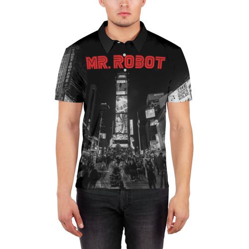 Мужская рубашка поло 3D  Фото 03, Мистер Робот