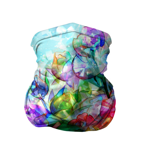 Бандана-труба 3D Стеклянные цветы