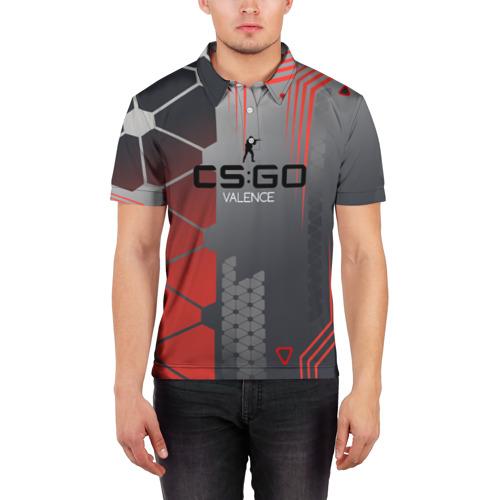 Мужская рубашка поло 3D  Фото 03, cs:go - Valence (Валентность)