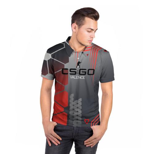 Мужская рубашка поло 3D  Фото 05, cs:go - Valence (Валентность)