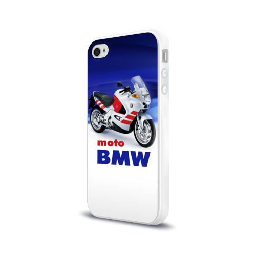Чехол для Apple iPhone 4/4S силиконовый глянцевый moto BMW Фото 01