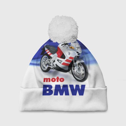 Шапка 3D c помпоном  Фото 01, moto BMW