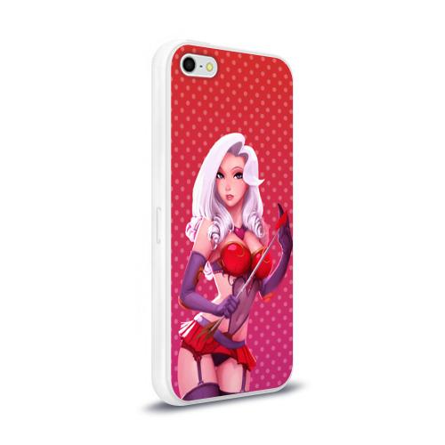 Чехол для Apple iPhone 5/5S силиконовый глянцевый  Фото 02, Девушка