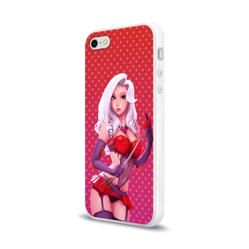 Чехол для Apple iPhone 5/5S силиконовый глянцевый  Фото 03, Девушка
