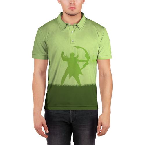 Мужская рубашка поло 3D  Фото 03, Green Redhead