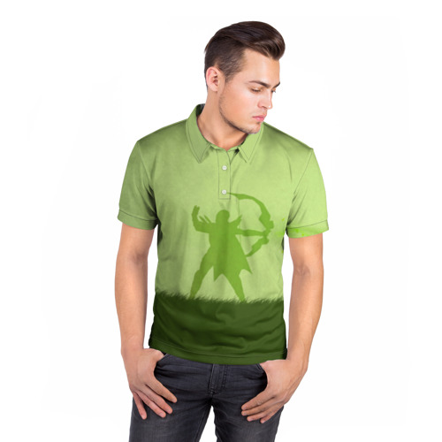 Мужская рубашка поло 3D  Фото 05, Green Redhead