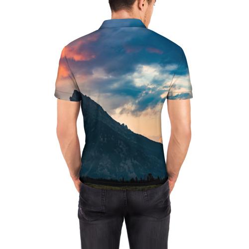 Мужская рубашка поло 3D  Фото 04, Закат в природе