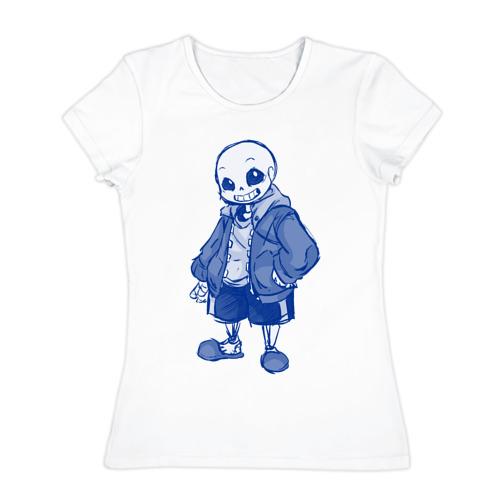 Женская футболка хлопок  Фото 01, Sans