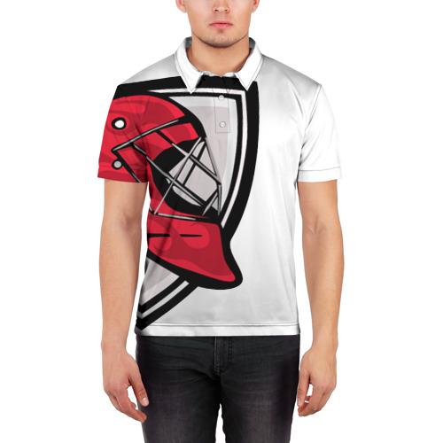 Мужская рубашка поло 3D  Фото 03, Красная машина
