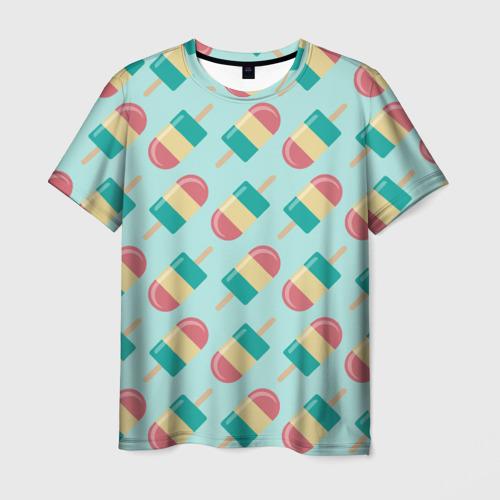 Мужская футболка 3D  Фото 03, Мороженое