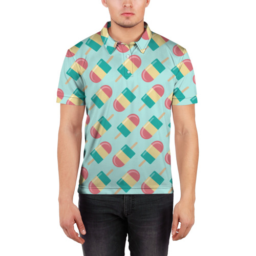 Мужская рубашка поло 3D  Фото 03, Мороженое