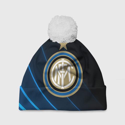 Шапка 3D c помпоном  Фото 01, Inter Milan