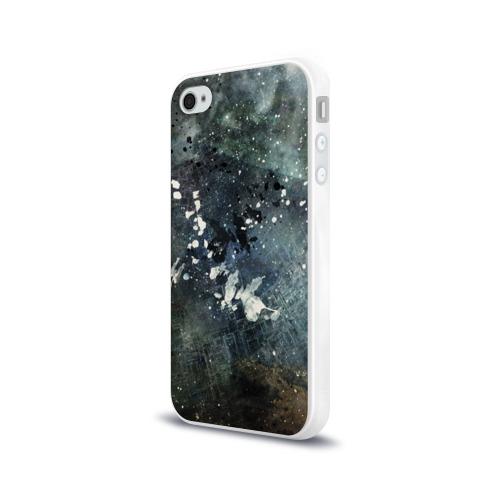 Чехол для Apple iPhone 4/4S силиконовый глянцевый  Фото 03, Капли краски