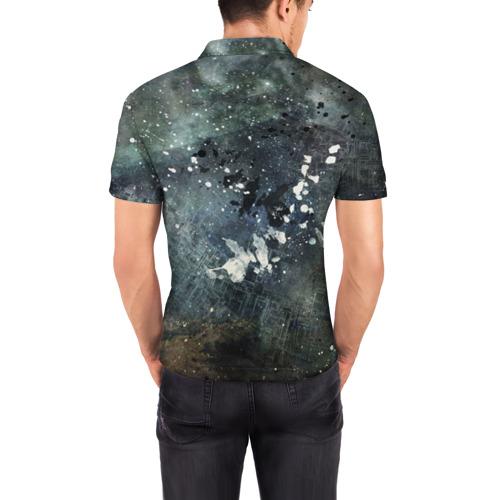 Мужская рубашка поло 3D  Фото 04, Капли краски