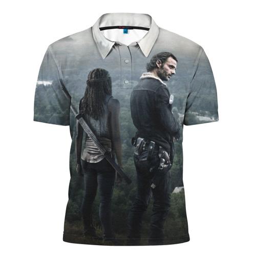 Мужская рубашка поло 3D  Фото 01, The Walking Dead