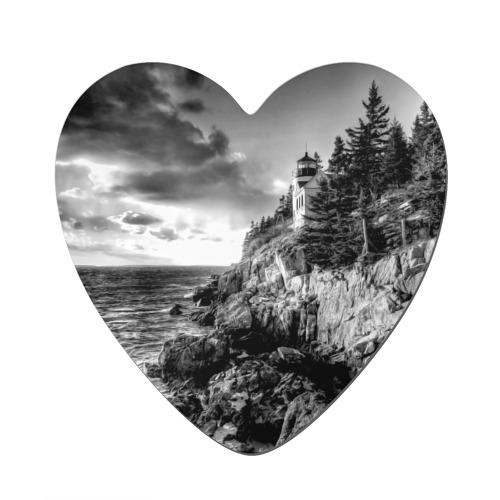 Магнит виниловый сердце  Фото 01, Маяк