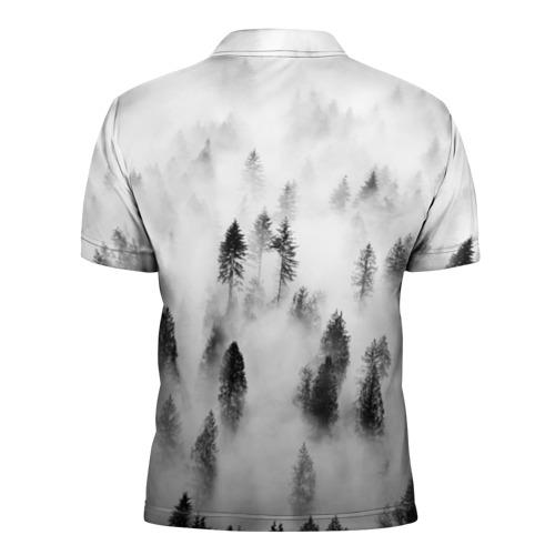 Мужская рубашка поло 3D  Фото 02, Ельник в тумане