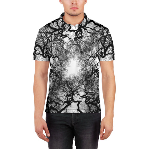 Мужская рубашка поло 3D  Фото 03, Кудрявые деревья