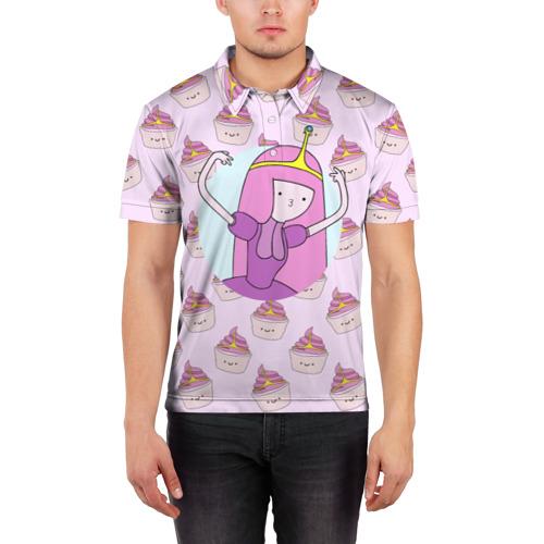 Мужская рубашка поло 3D  Фото 03, Princess Bubblegum