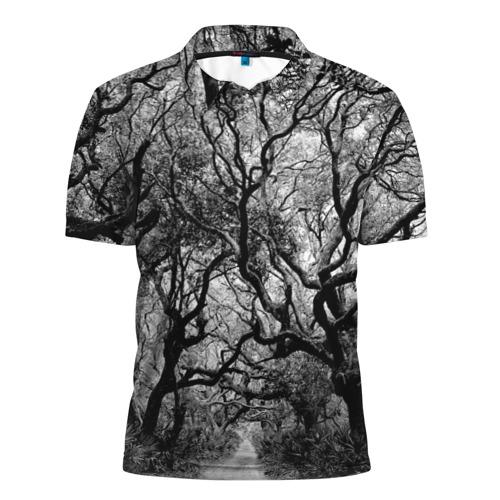 Мужская рубашка поло 3D  Фото 01, Деревья
