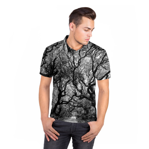 Мужская рубашка поло 3D  Фото 05, Деревья