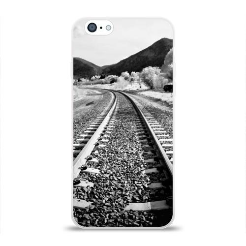 Чехол для Apple iPhone 6 силиконовый глянцевый  Фото 01, Железная дорога