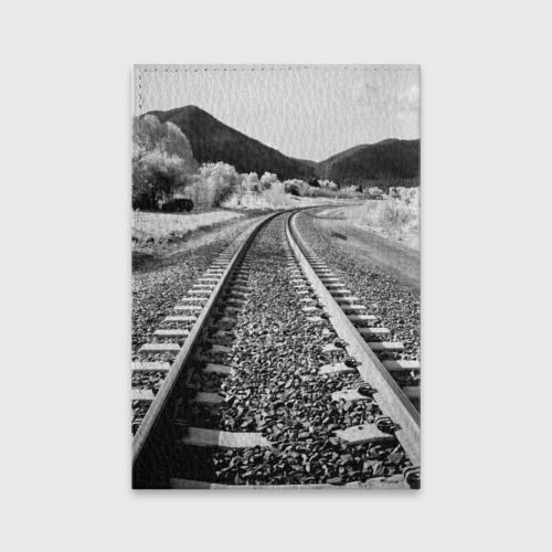 Обложка для паспорта матовая кожа Железная дорога Фото 01