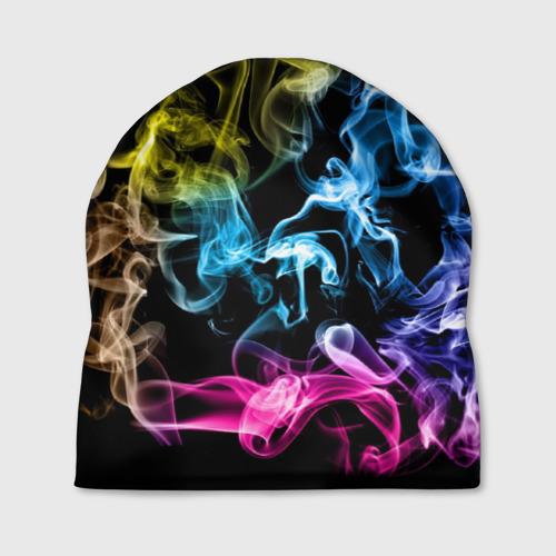 Шапка 3D  Фото 01, Красочный дым